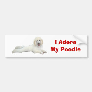 Poodle I Adore Bumper Sticker Car Bumper Sticker