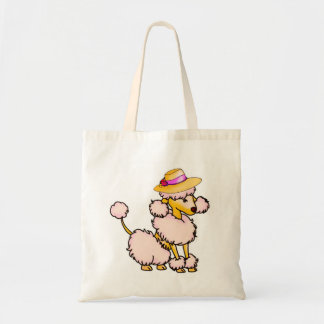 Poodle in Hat Bag