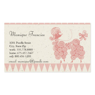 Poodle in Paris Business Card