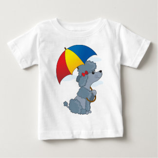 Poodle in Rain Baby T-Shirt