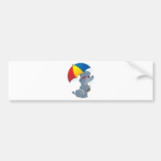 Poodle in Rain Bumper Sticker