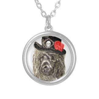 Poodle In Top Hat Necklace