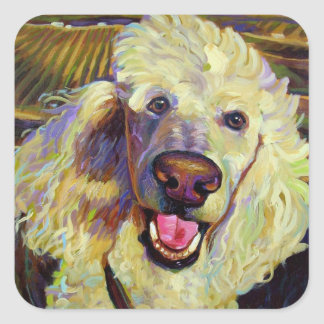 Poodle in Wine Country Sticker