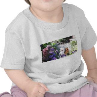 Poodle InfantT-Shirt Hydrangeas