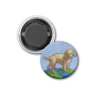 Poodle is best dog on earth cute art painting fridge magnets