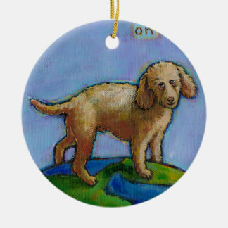 Poodle is best dog on earth cute art painting ornaments