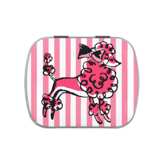 Poodle Jelly Belly Candy Tin