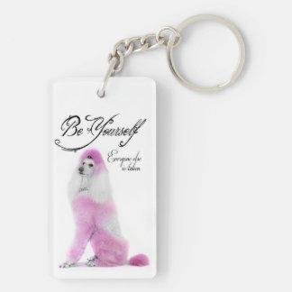 Poodle Key Ring