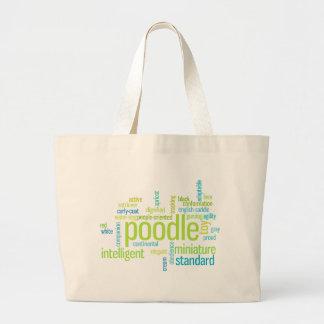 Poodle Large Tote Bag