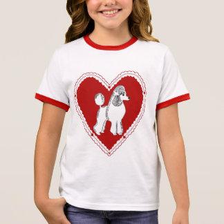 Poodle Love Girl's Ringer T-Shirt