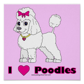 Poodle Love Poster