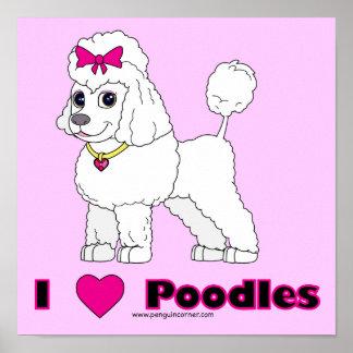 Poodle Love Print