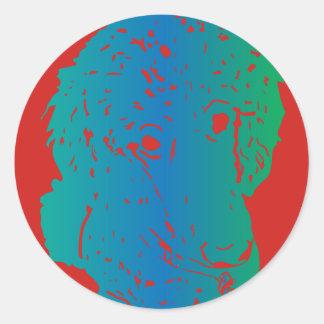 Poodle Love Sticker Round