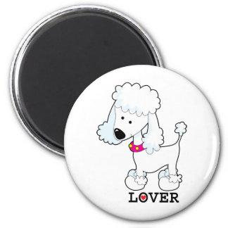 Poodle Lover 2 Inch Round Magnet