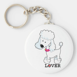 Poodle Lover Basic Round Button Keychain