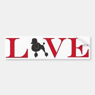 Poodle Lover Bumpersticker Bumper Sticker