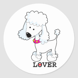 Poodle Lover Classic Round Sticker