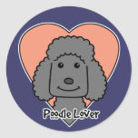 Poodle Lover Round Sticker