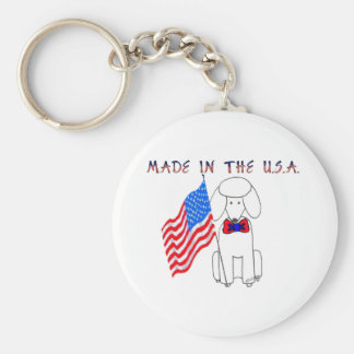 Poodle Made In The USA Keychain