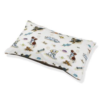 Poodle Mix-ing It Up White Dog Bed