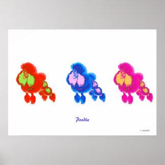 Poodle Moderne Art Poster