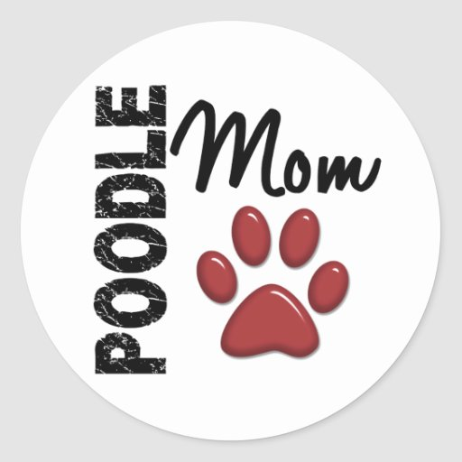 Poodle Mom 2 Stickers