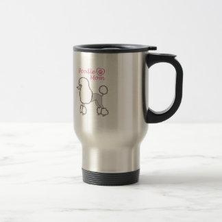 POODLE MOM APPLIQUE COFFEE MUG