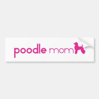 Poodle Mom Bumper Sticker