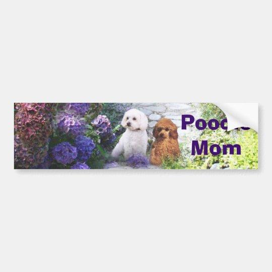Poodle Mom Bumper Sticker Hydrangea