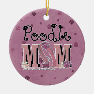 Poodle MOM Ceramic Ornament