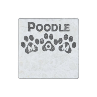 Poodle Mom Stone Magnet