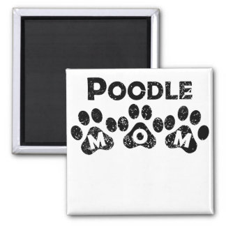 Poodle Mom 2 Inch Square Magnet