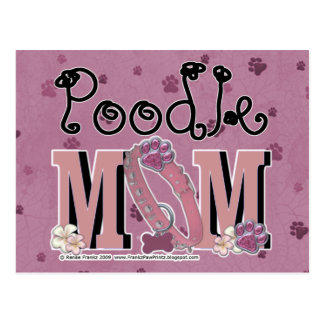 Poodle MOM Postcard