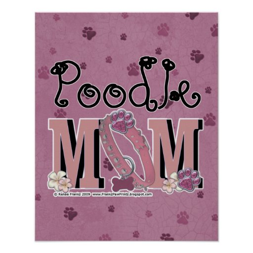 Poodle MOM Print