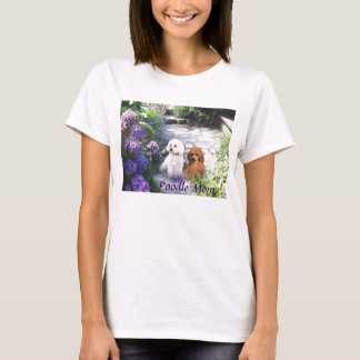 Poodle Mom T-Shirt Hydrangeas
