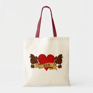 Poodle Mom [Tattoo style] Tote Bag