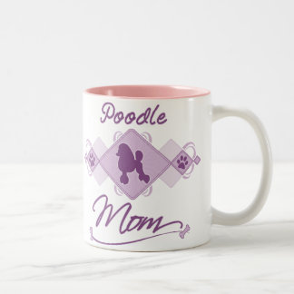 Poodle Mom Two-Tone Coffee Mug