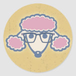 Poodle Nerd Classic Round Sticker
