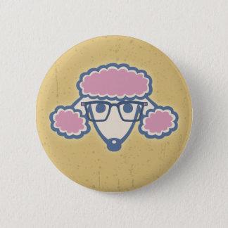 Poodle Nerd Pinback Button