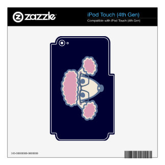 Poodle Nerd Skin For iPod Touch 4G