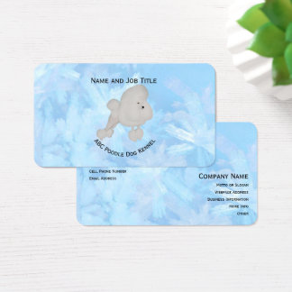 Poodle on Blue Crystal Business Card