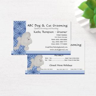 Poodle on Blue Design Business Card