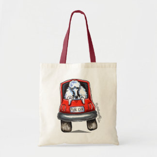 Poodle on Board Tote Bag
