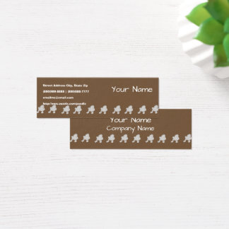Poodle on Brown Mini Business Card