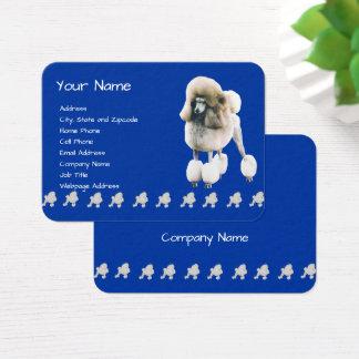 Poodle on Dark Blue Business Card