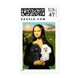 Poodle Pair (BW) - Mona Lisa Postage