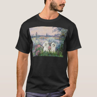 Poodle Pair (W) - By the Seine T-Shirt