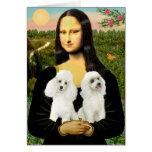Poodle Pair (W) - Mona Lisa Card
