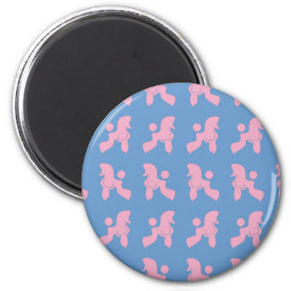 Poodle Patern sample poodle 2 Inch Round Magnet