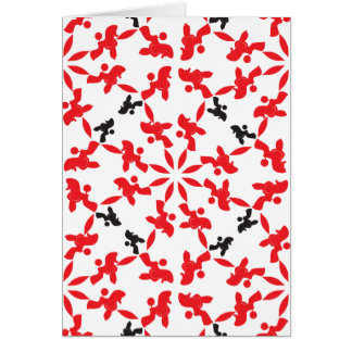 Poodle Pattern red Card